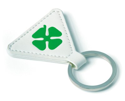 Кожаный брелок Alfa Romeo Leather Cloverleaf Keyring